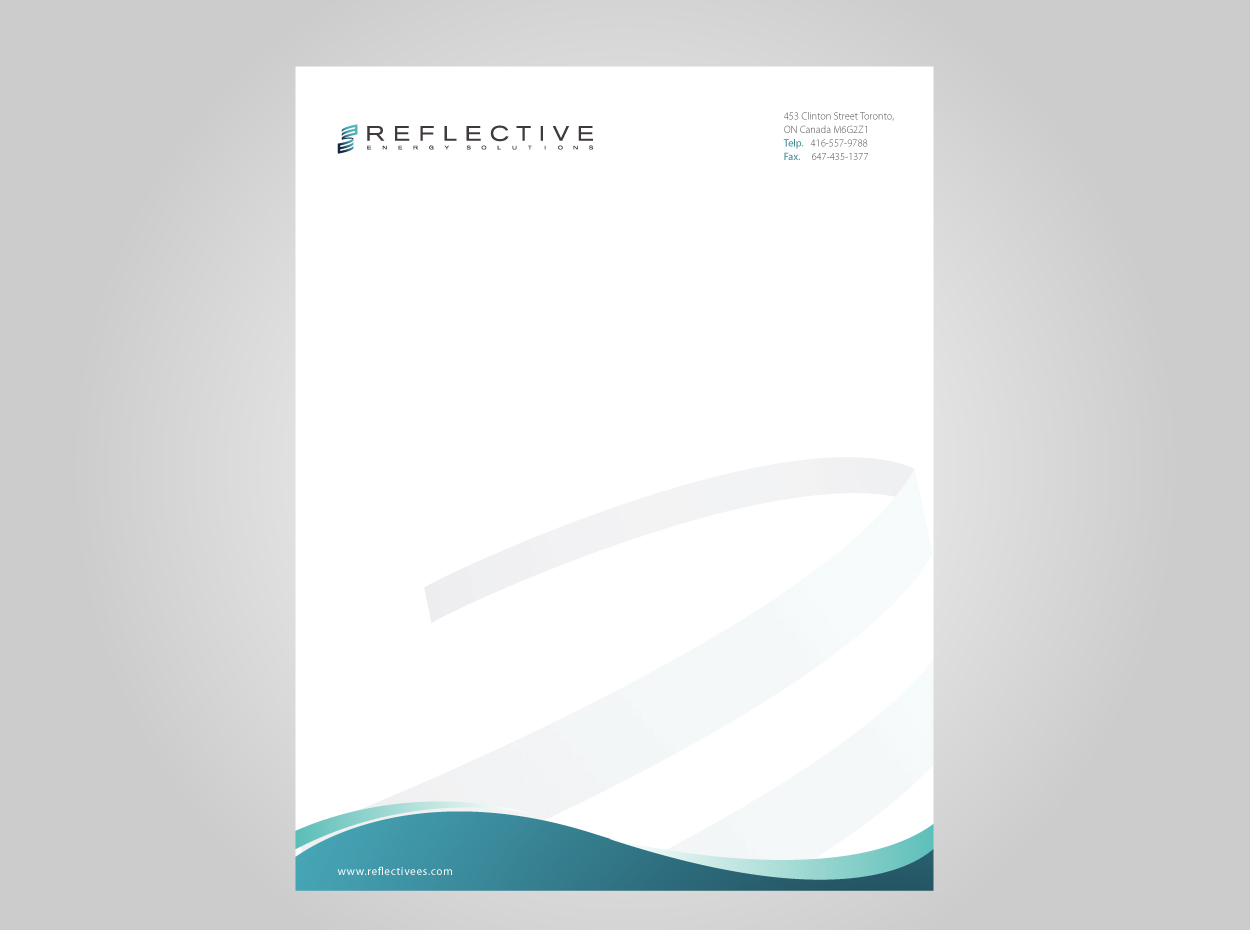 serious professional industrial letterhead design for a company by