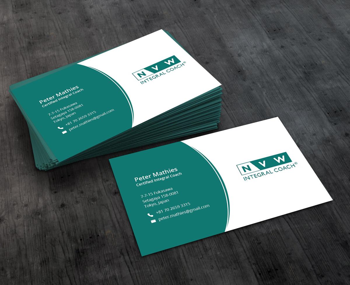 Elegant Professionell Life Coaching Visitenkarten Design