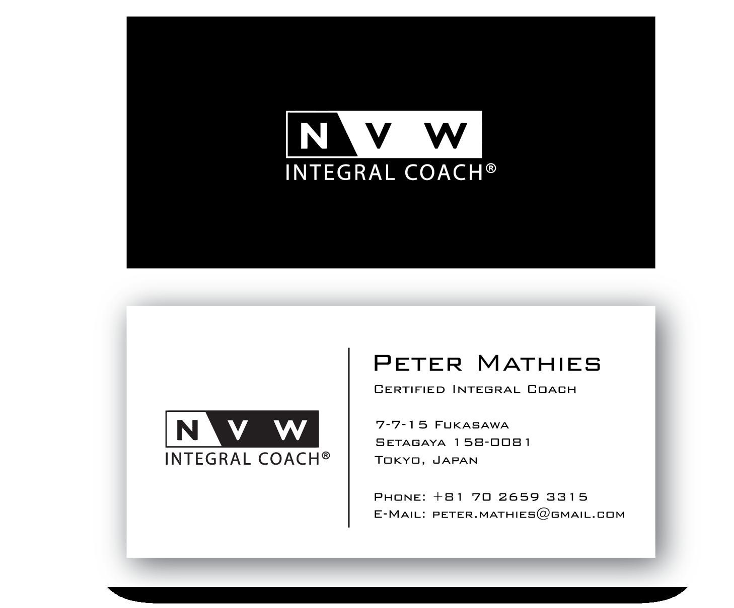 Elegant Professional Life Coaching Business Card Design For Self
