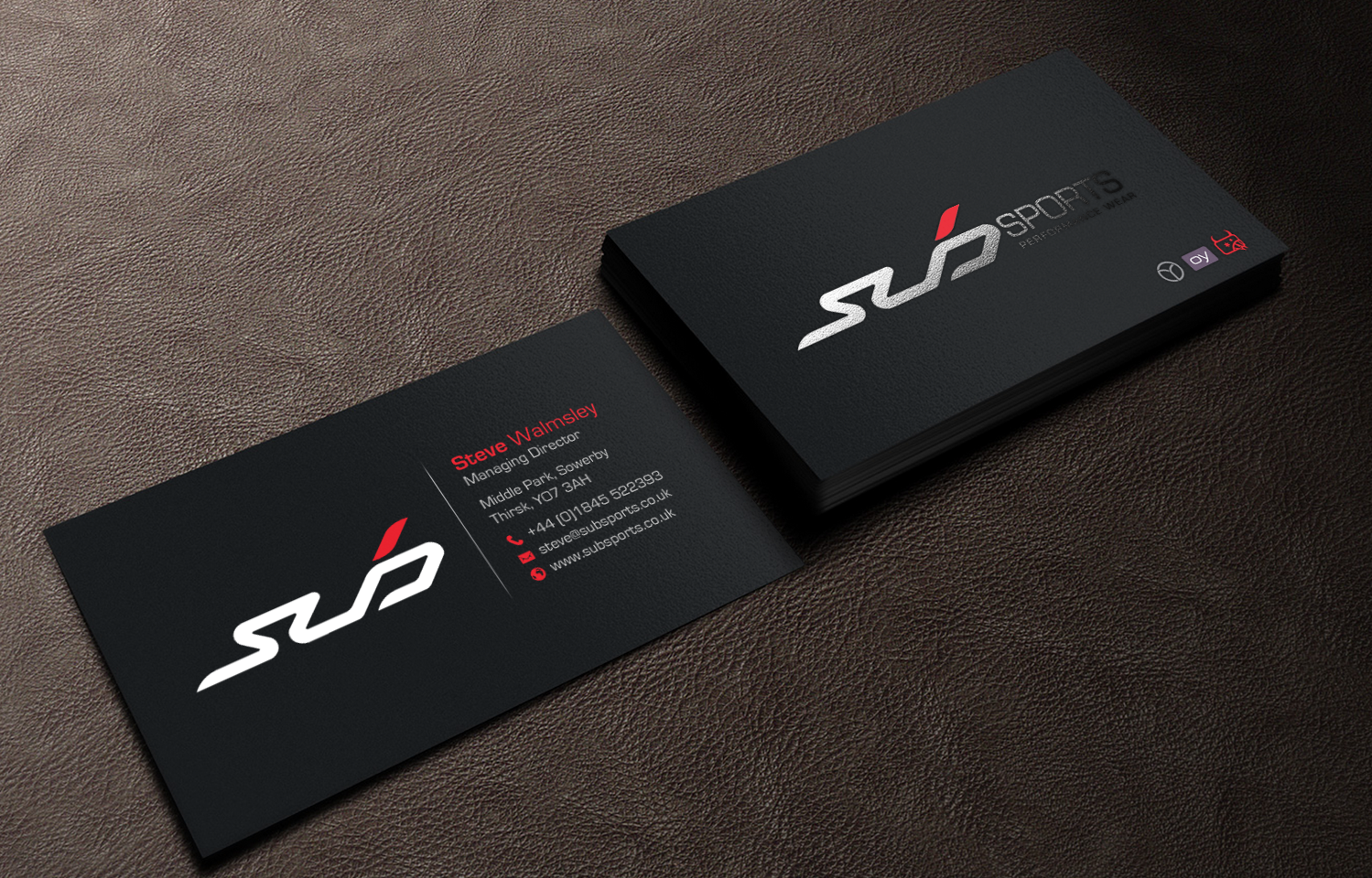 Modern upmarket business business card design for sub sports by business card design by chandrayaaneative for sub sports design 13062457 colourmoves Image collections