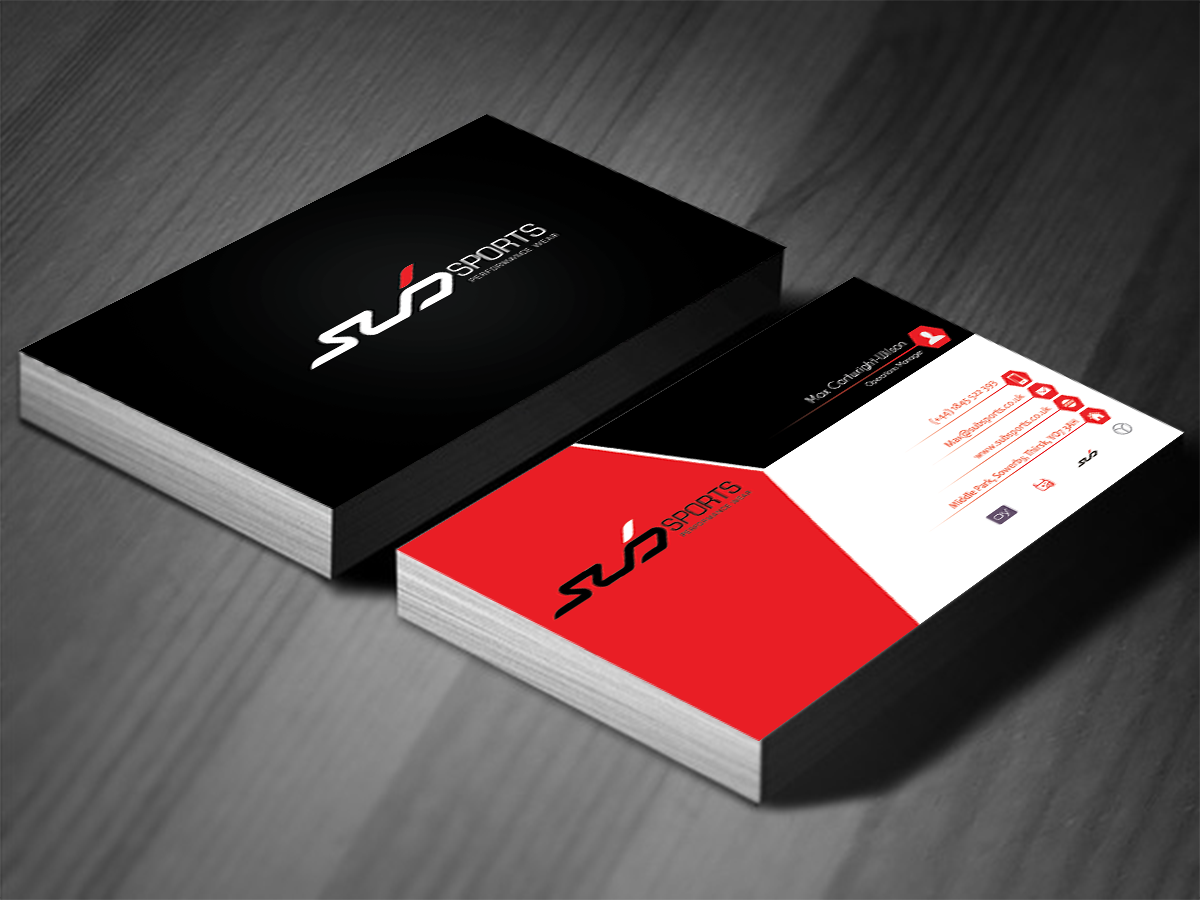 Modern upmarket business business card design for sub sports by business card design by logoguider for sub sports design 13061992 colourmoves Image collections