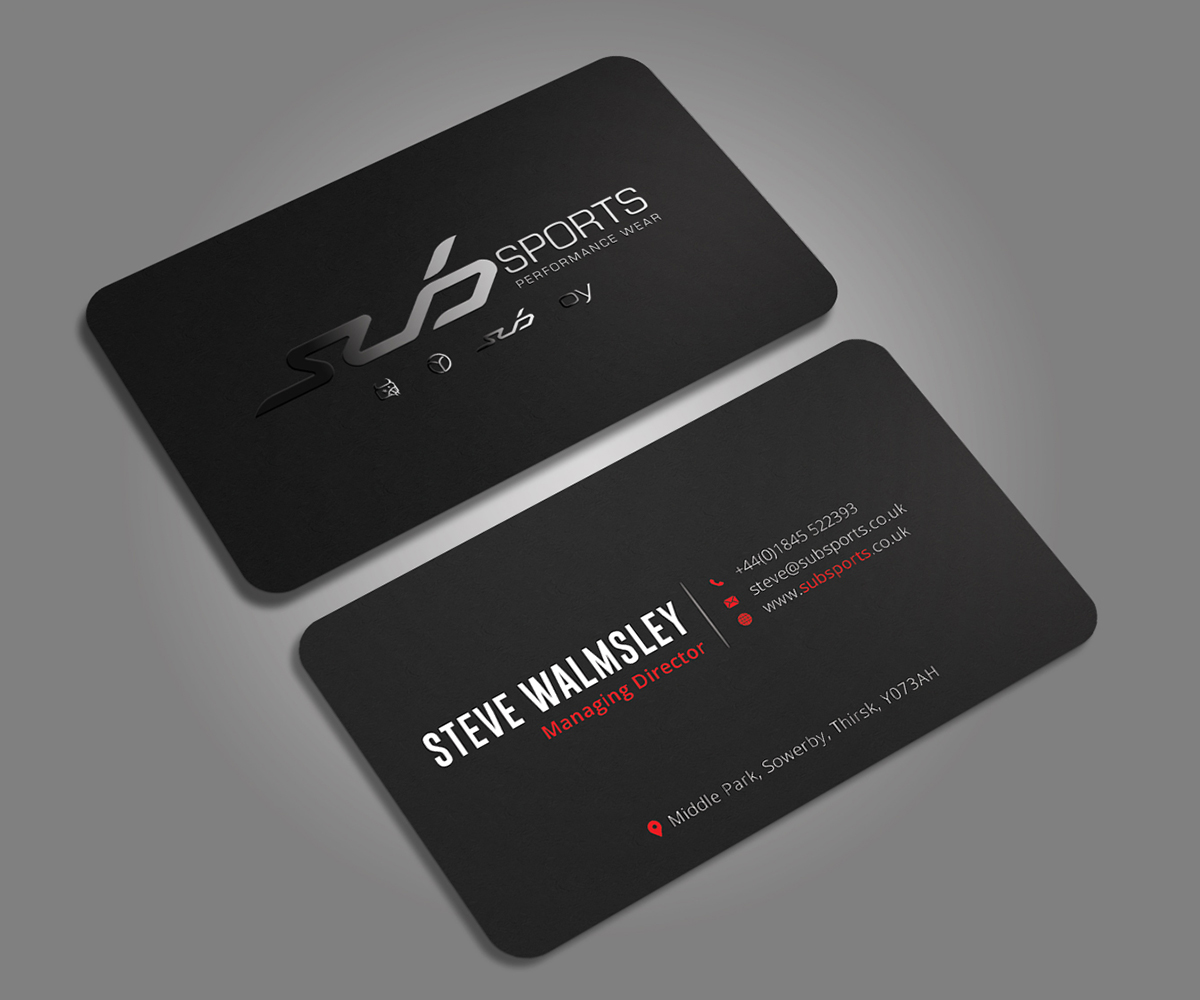 Modern upmarket business card design for sub sports by graphic business card design by graphic flame for business card for multi brand sportswear company magicingreecefo Image collections