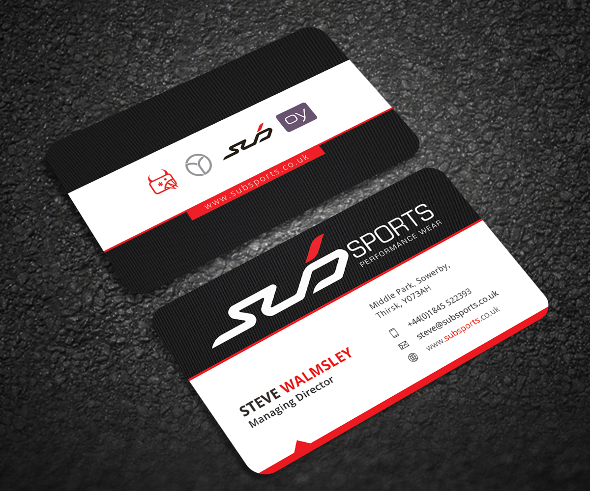 Modern, Upmarket, Business Business Card Design for Sub Sports by ...