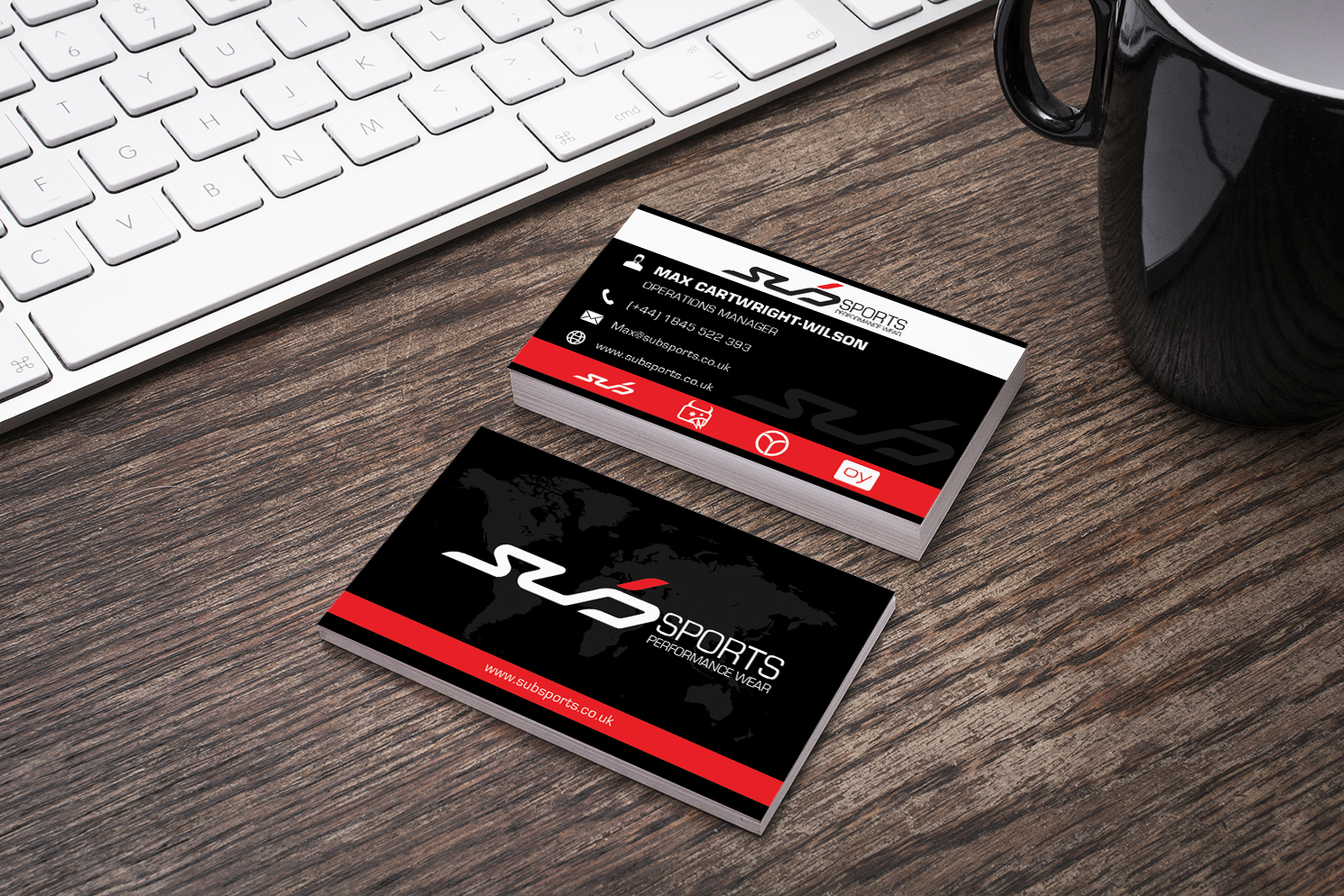 Modern, Upmarket Business Card Design for Sub Sports by ...