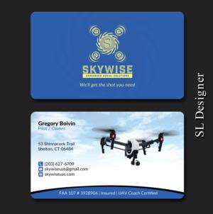 Design De Carte Visite Par SL Designer Pour SkyWise UAS