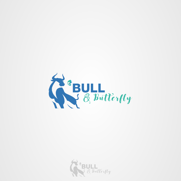 Playful Personable Boutique Logo Design For Bull Butterfly By