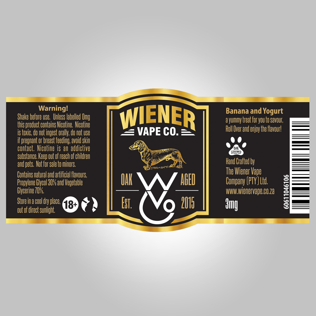 Label design by somnathroy32 for wiener vape company pty ltd design