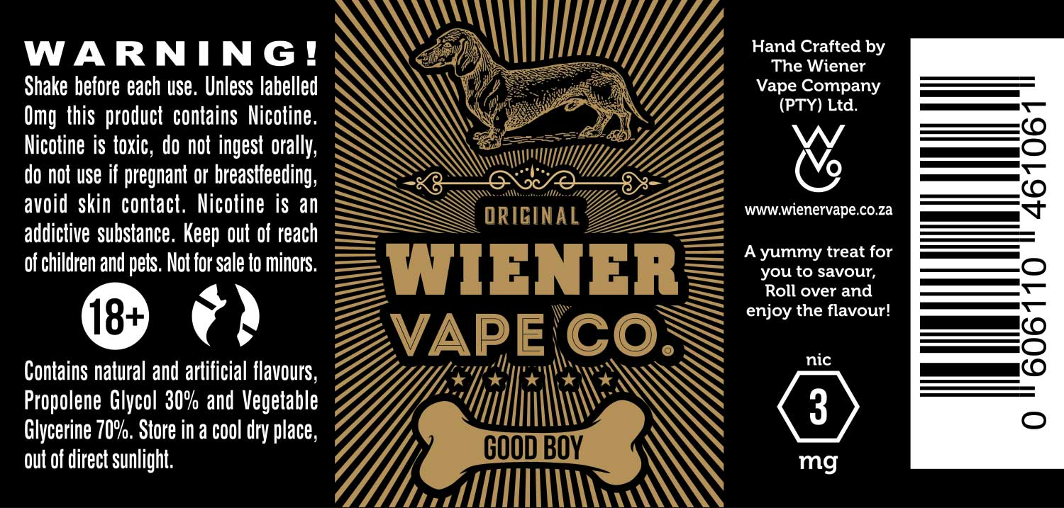 Label design by wisdomalchemy for wiener vape company pty ltd design