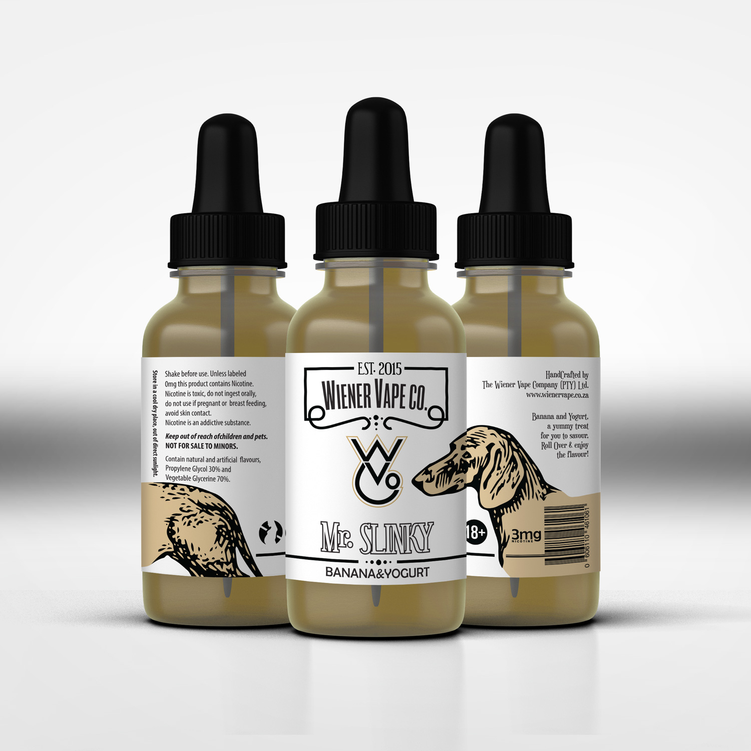 Label design by skahorse for wiener vape company pty ltd design