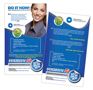 masculine conservative hypnotherapy flyer design for acumen