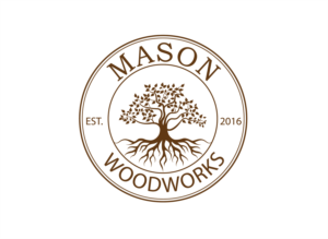 Upmarket Bold Woodworking Logo Design For Mason Woodworks By Roman