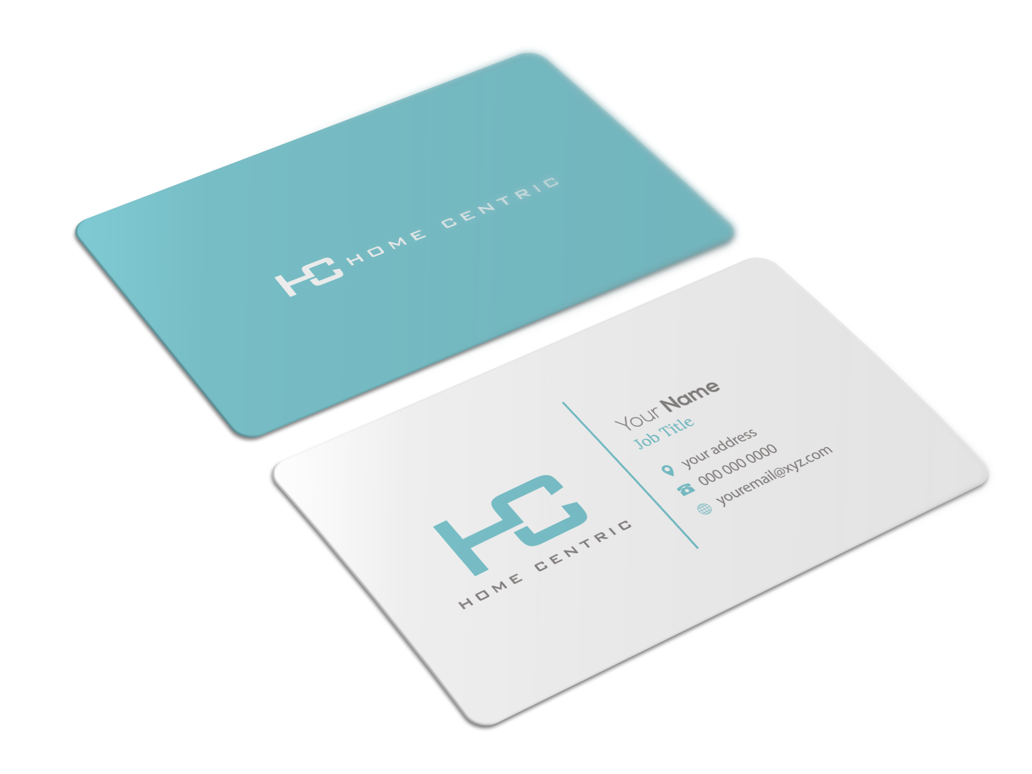 Modern professional business business card design for home centric business card design by riz for home centric design 13024844 reheart Image collections