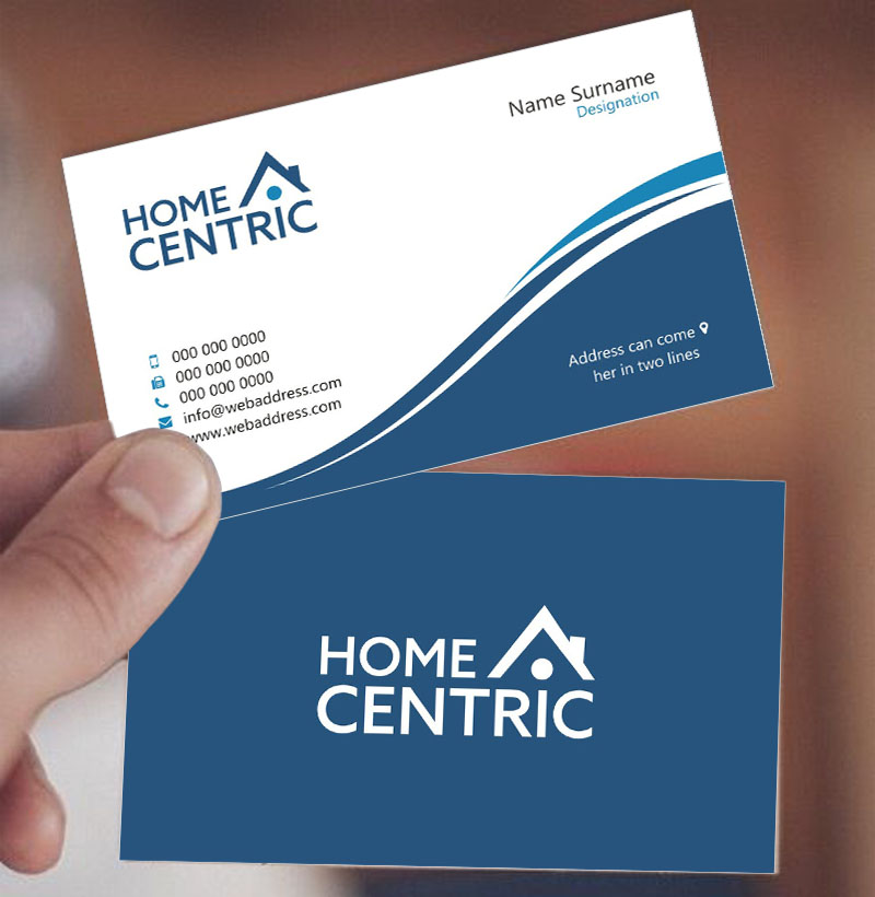 Modern, Professional, Business Business Card Design for Home Centric ...