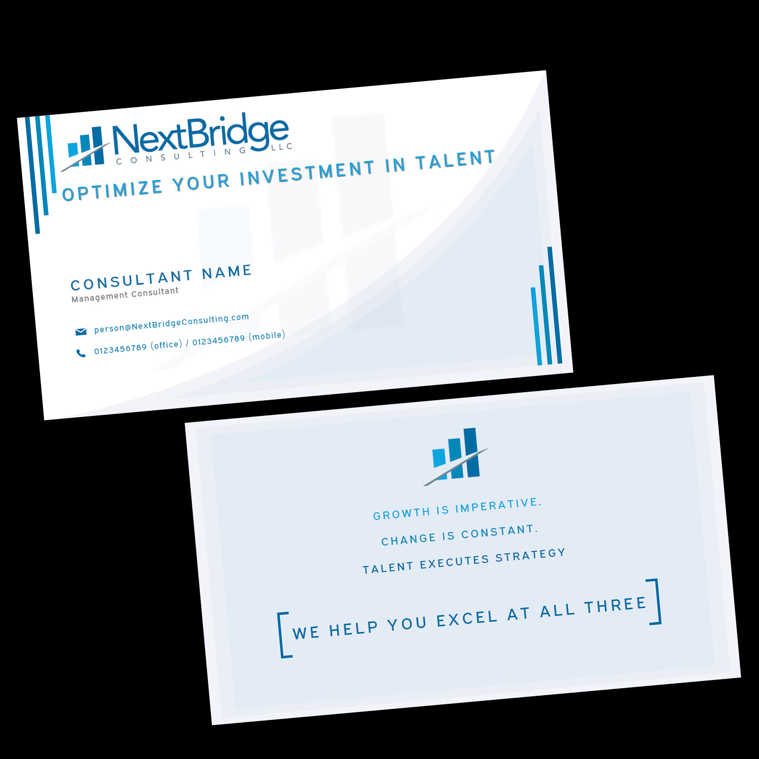 Professional upmarket management consulting business card design business card design by designer mac for this project design 13099369 reheart Gallery