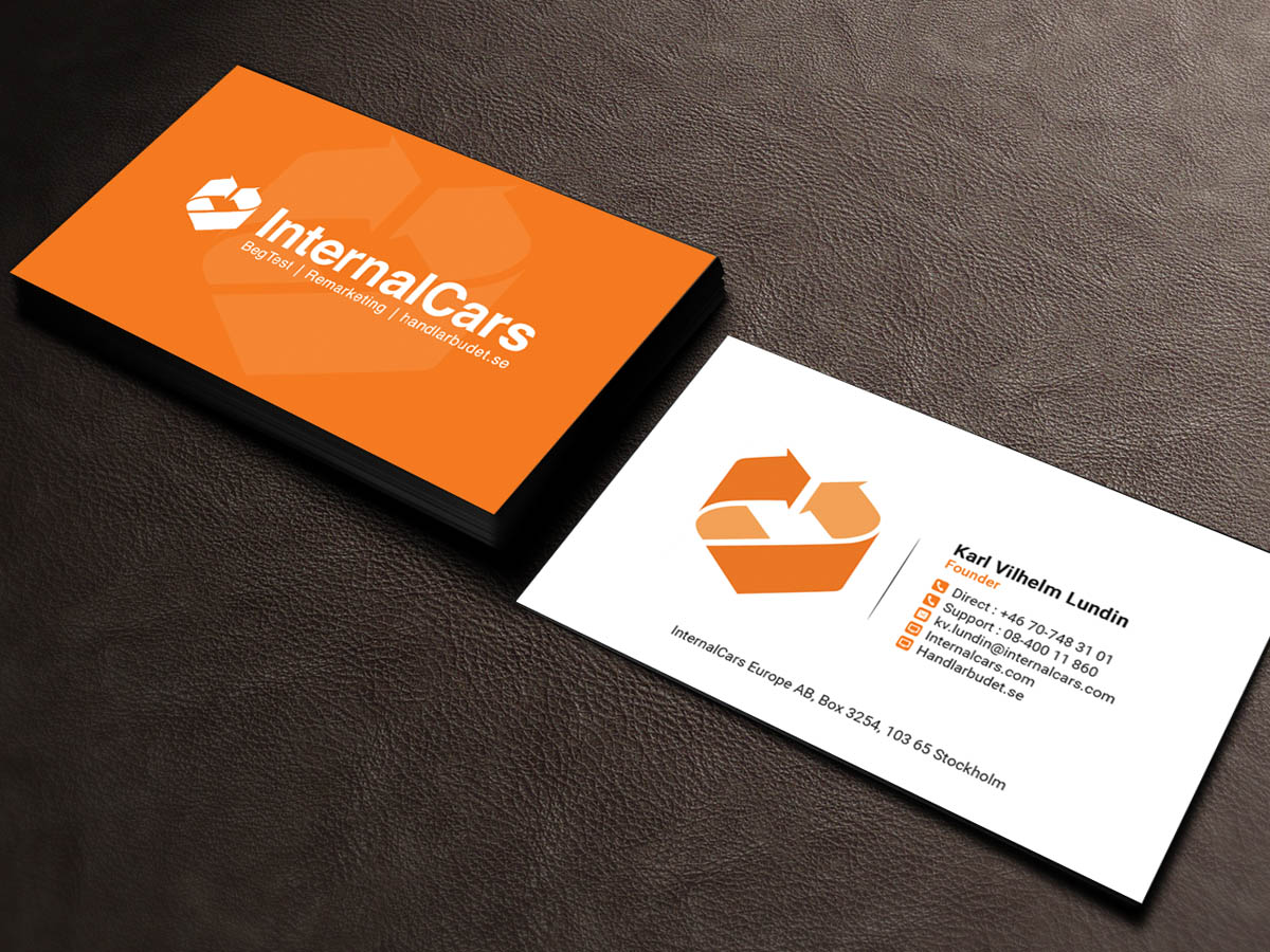 Professional masculine business card design for internalcars europe business card design by sandaruwan for it tradingsystem for car dealers needs business card design colourmoves Choice Image