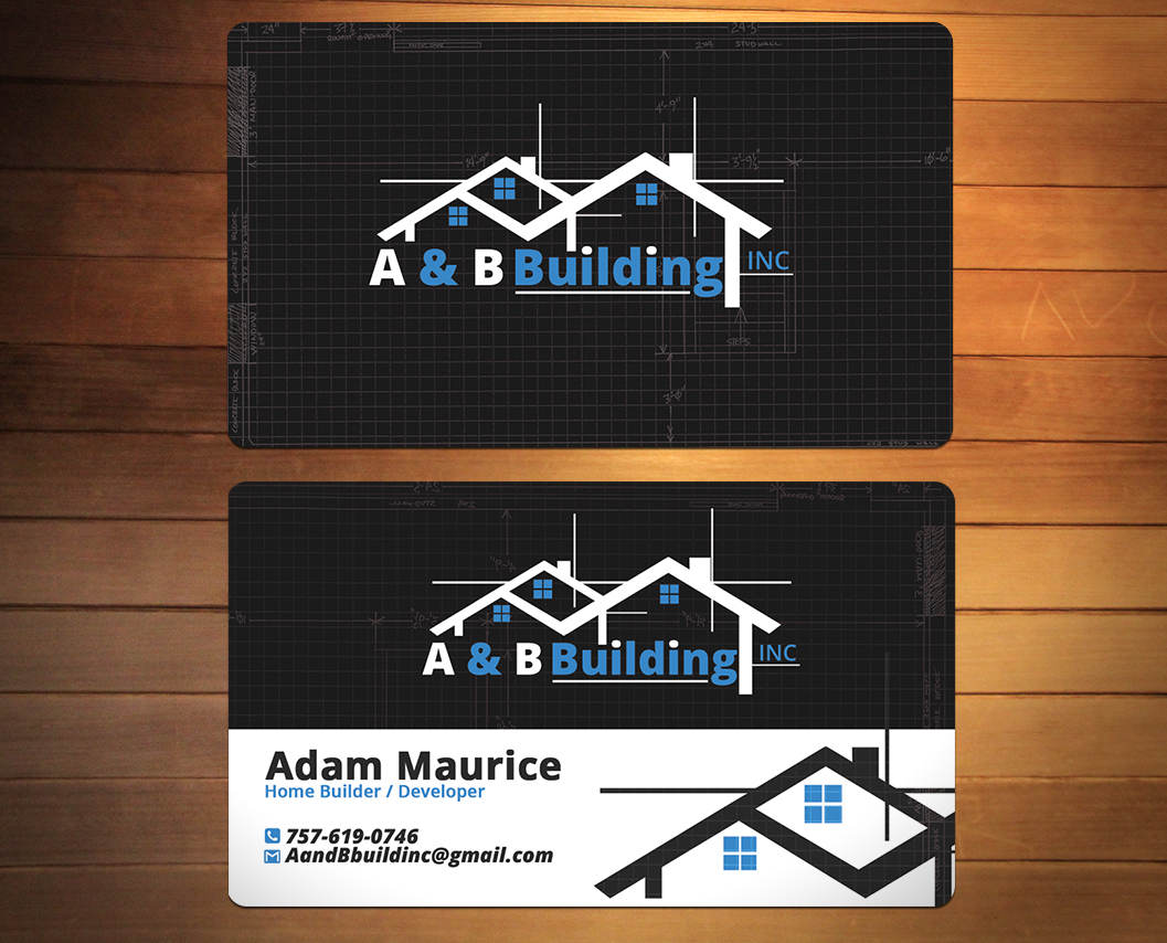 Design De Carte Visite Par Creativmindsja Pour A And B Building Inc