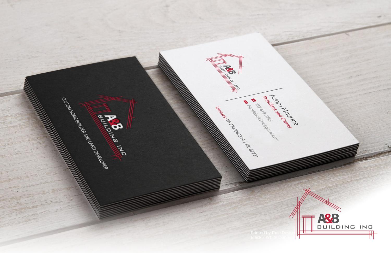 65 Elegant Business Card Designs   Home Builder Business Card Design ...