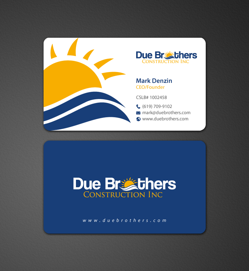 Upmarket, Serious, Solar Energy Business Card Design for Due ...