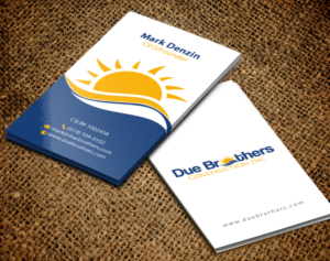 223 upmarket business card designs solar energy business card business card design by chandrayaaneative for due brothers construction design 13024586 colourmoves