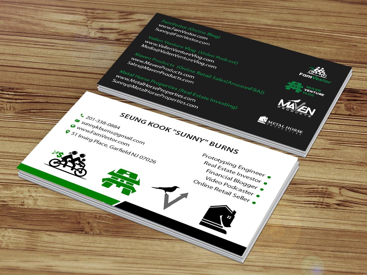 Masculine, Serious, Entrepreneur Business Card Design for FamVestor ...