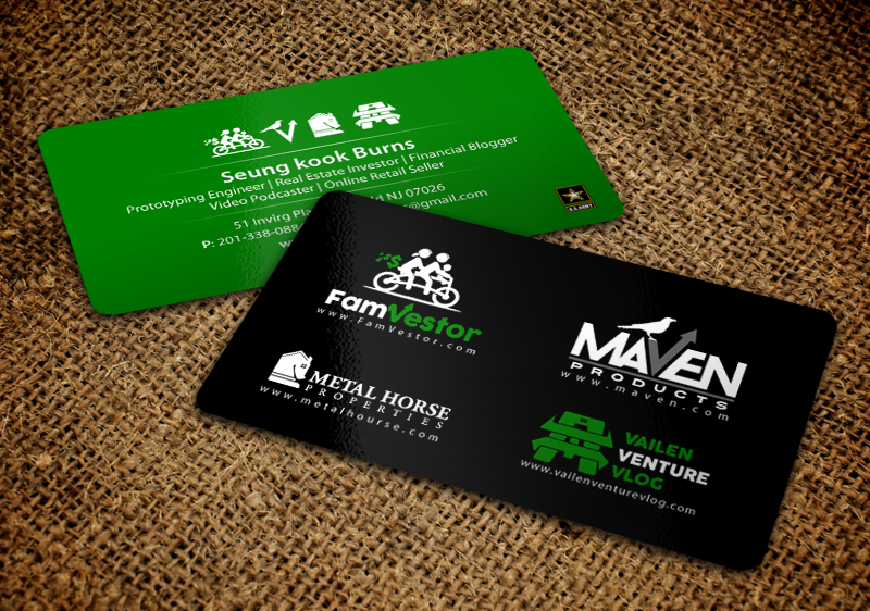 Masculine serious entrepreneur business card design for famvestor business card design by chandrayaaneative for famvestor design 13661699 reheart Image collections