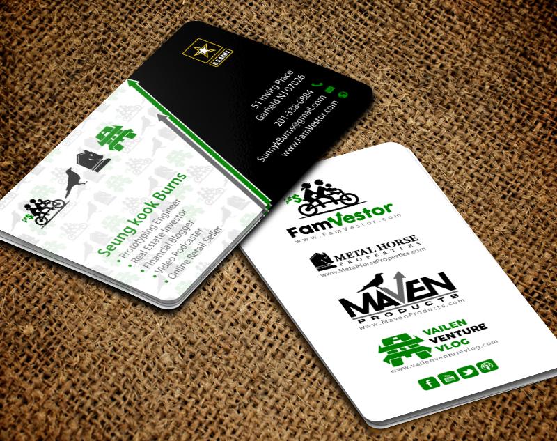209 Masculine Business Card Designs   Entrepreneur Business Card ...