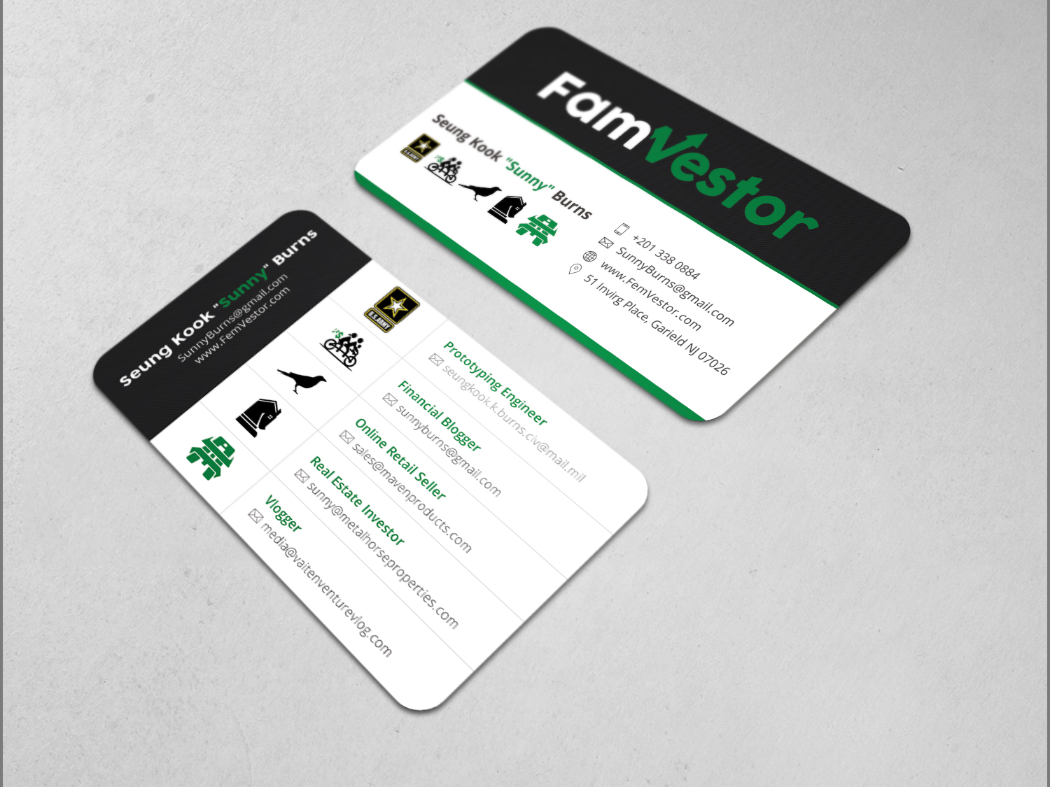 Masculine, Serious Business Card Design for FamVestor by Graphic ...