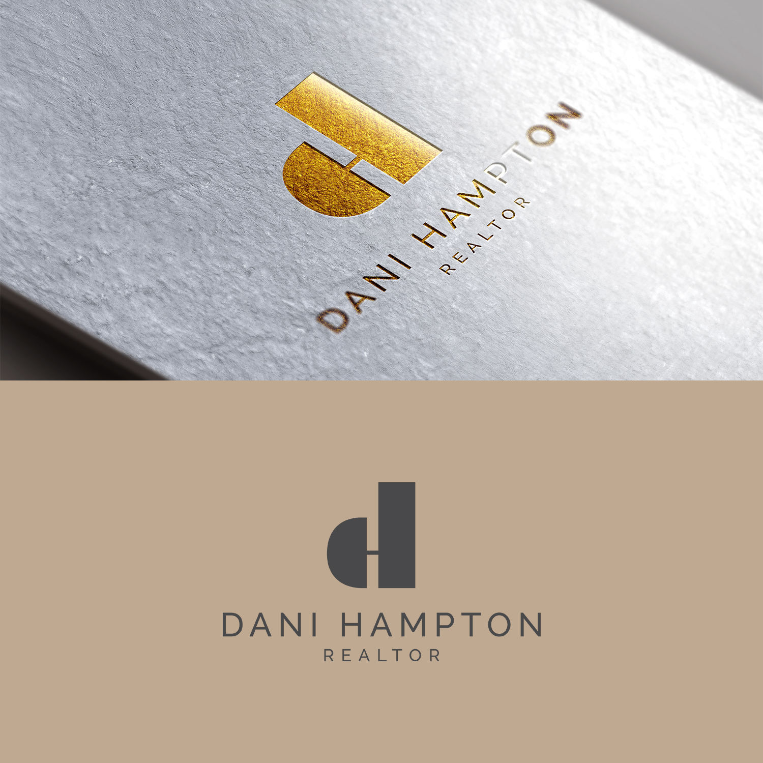 Modern, Feminine, Realtor Logo Design for Dani Hampton Realtor by ...