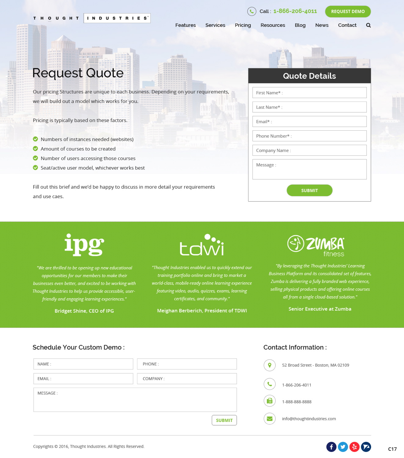Modern Serious Pricing Web Design For Thought Industries By Pb Design 13041510