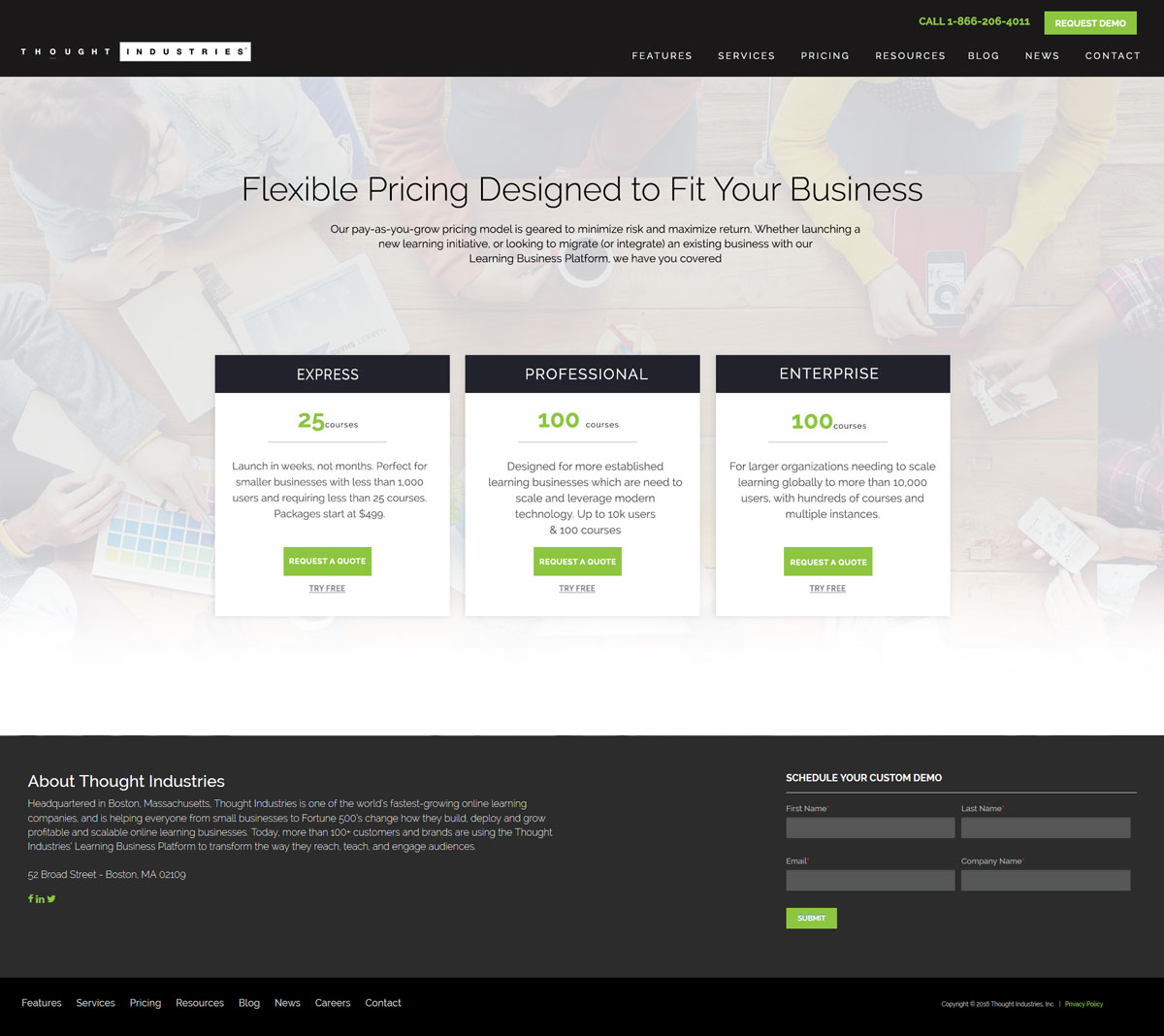 Modern Serious Pricing Web Design For Thought Industries By Kreative Fingers Design 13038060