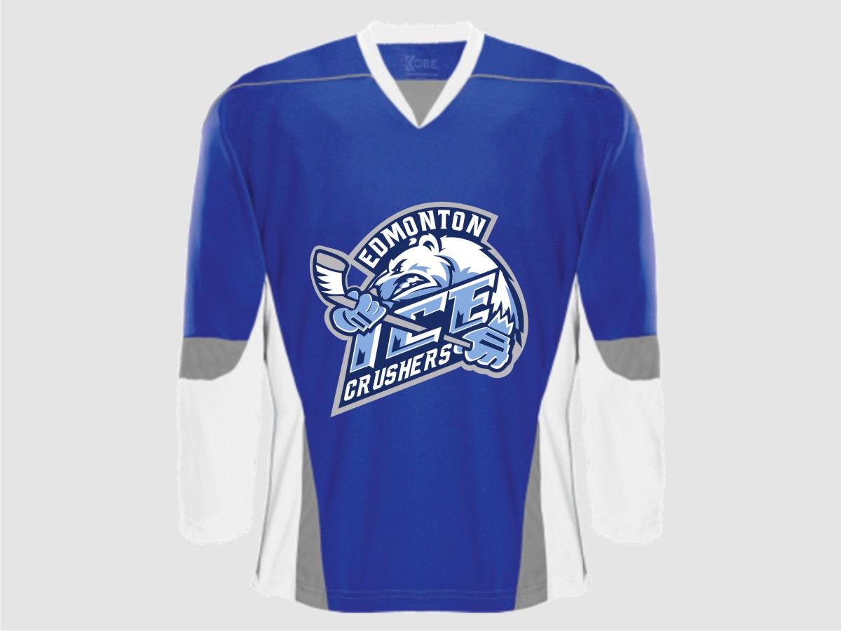 Shirt design edmonton - Logo Design By Kokoriko For Edmonton Ice Crushers Hockey Logo Design 13035163