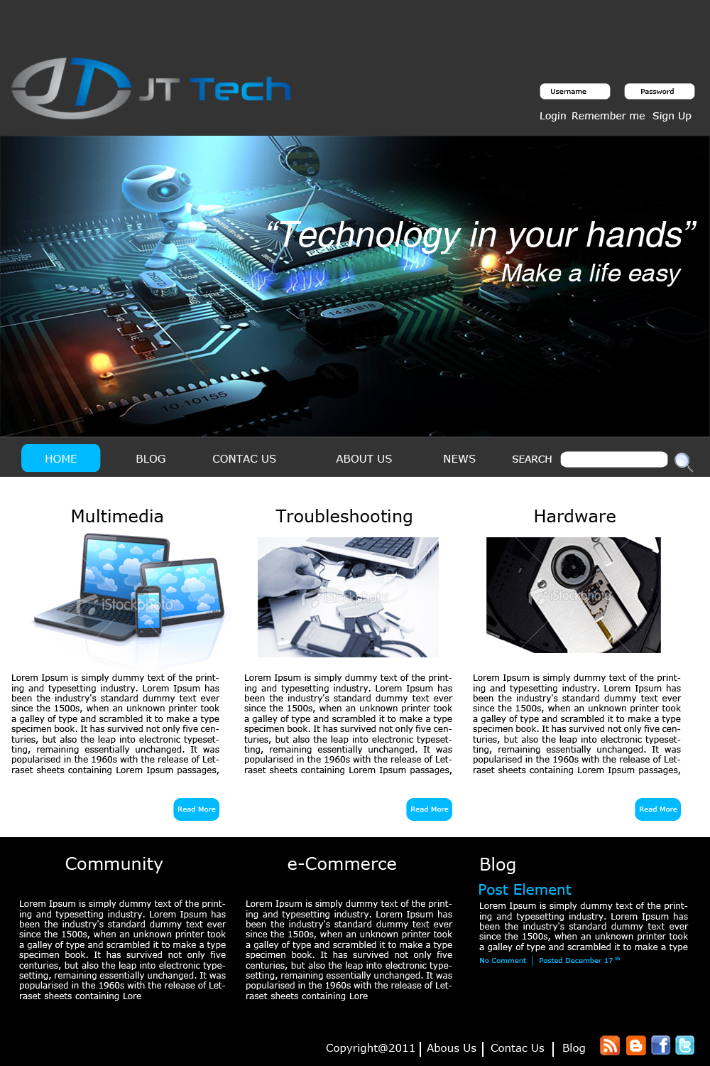 Professional, Serious, Computer Wordpress Design for a