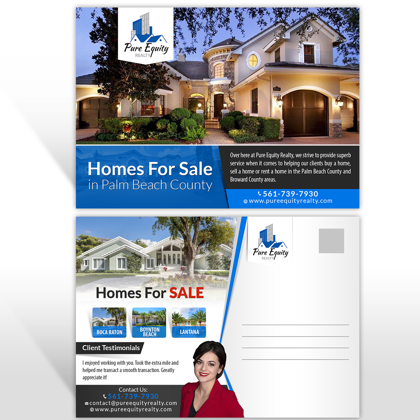elegant playful real estate flyer design for a company by hih7