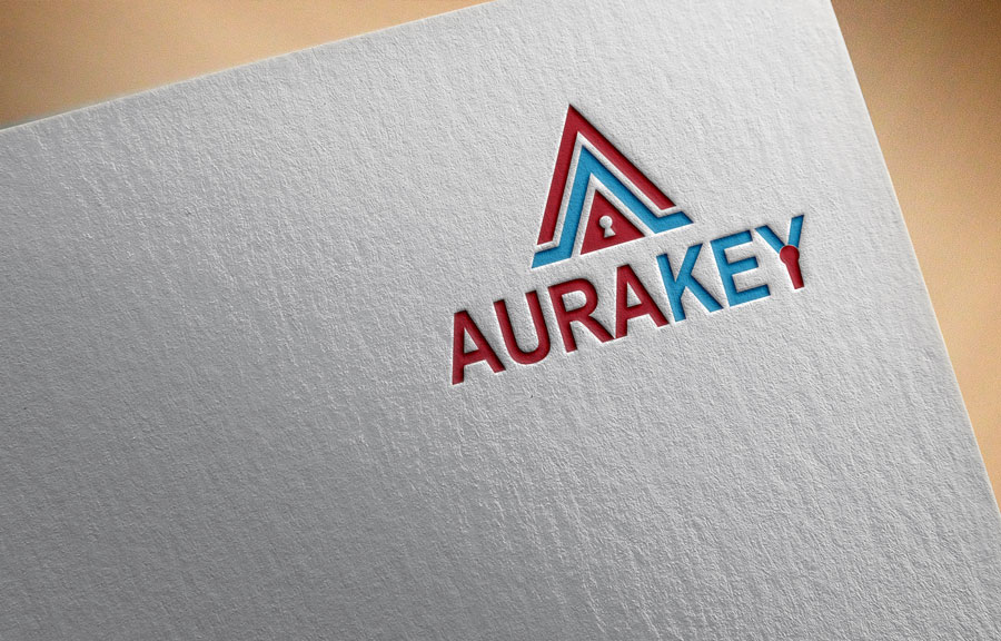 Colorful, Playful, Marketing Logo Design for AuraKey by