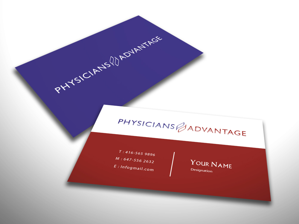 Professional, Modern Business Card Design for Physicians Advantage ...