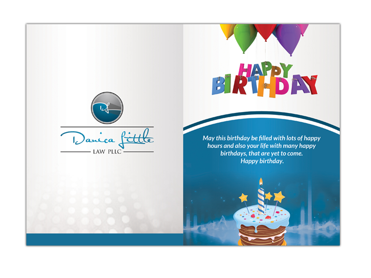 Colorful Elegant Law Firm Greeting Card Design For Danica Little