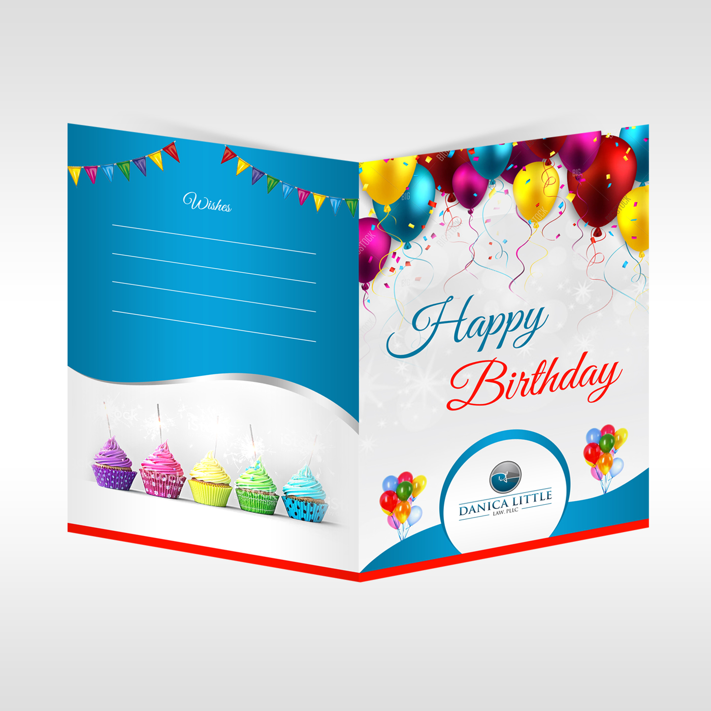 Colorful elegant law firm greeting card design for danica little greeting card design by debdesign for danica little law pllc design 13104170 m4hsunfo