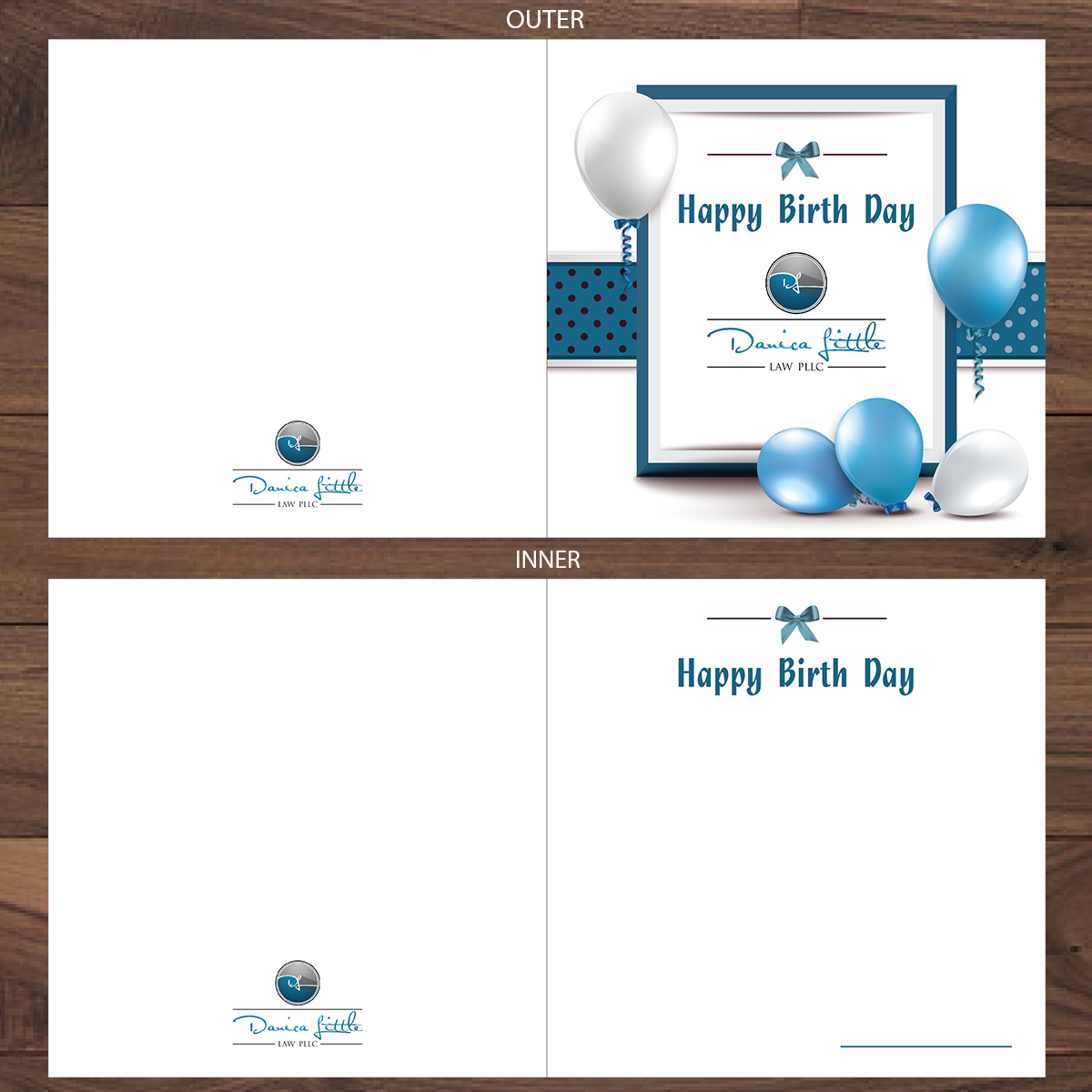 Colorful elegant greeting card design for danica little law pllc colorful elegant greeting card design for company in united states design 13096412 m4hsunfo