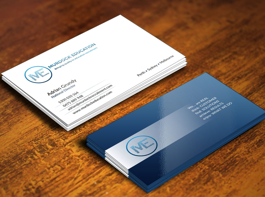 Upmarket, Bold Business Card Design for Adrian by CREATIVE DESIGN ...