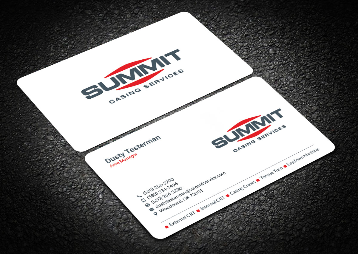 Professional, Masculine, Oil And Gas Business Card Design for a ...