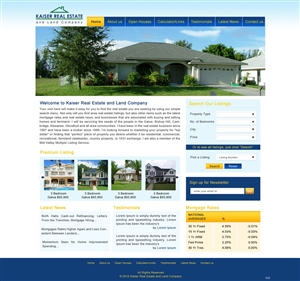 Web Design job – Real Estate Web Page Redesign – Winning design by pb