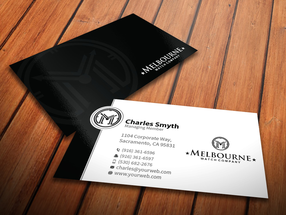 Business Card Design for Melbourne Watch Company Pty Ltd by ...