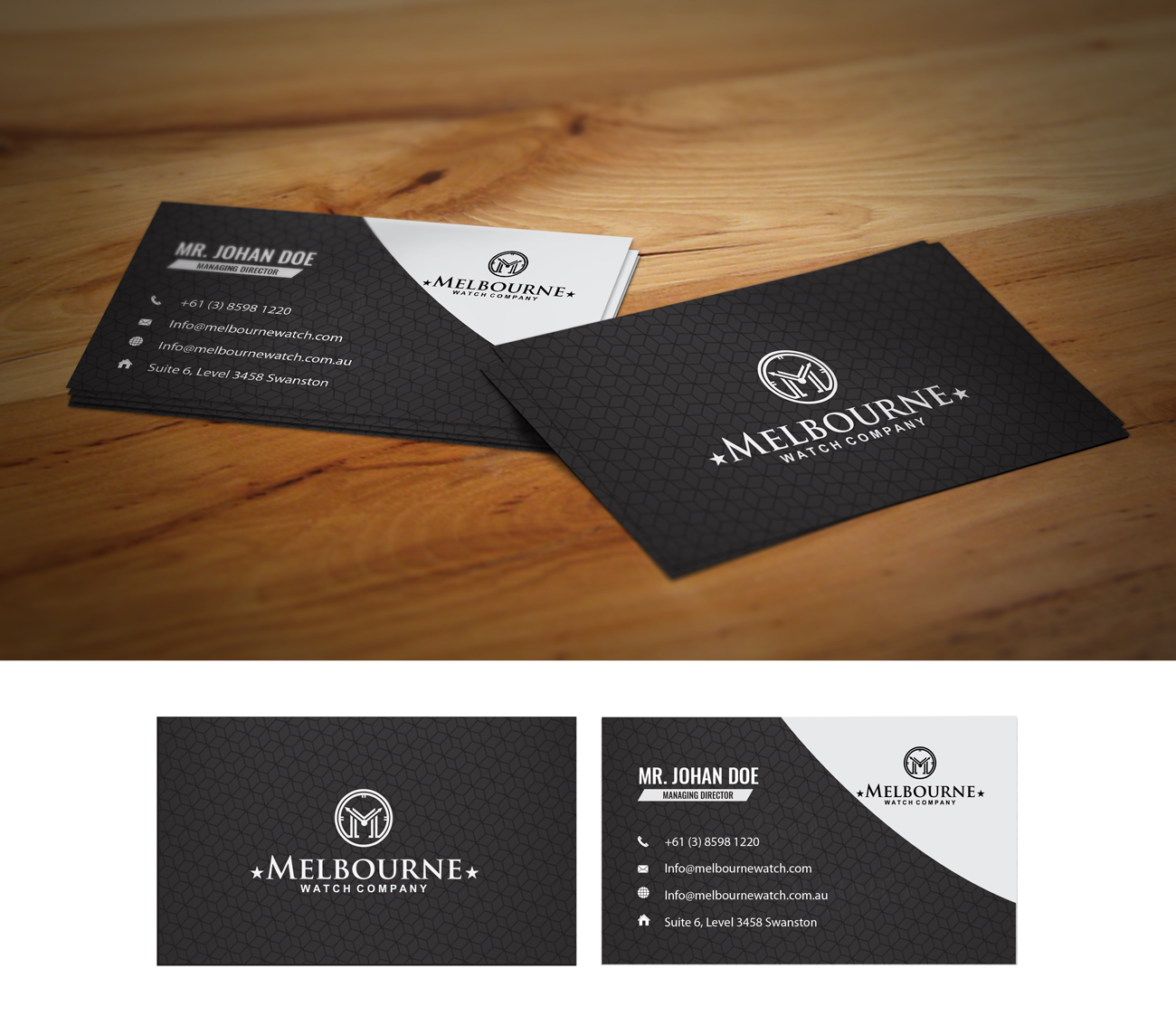 Business business card design for melbourne watch company pty ltd by business card design by black stallions impressive solutions for melbourne watch company pty ltd design colourmoves