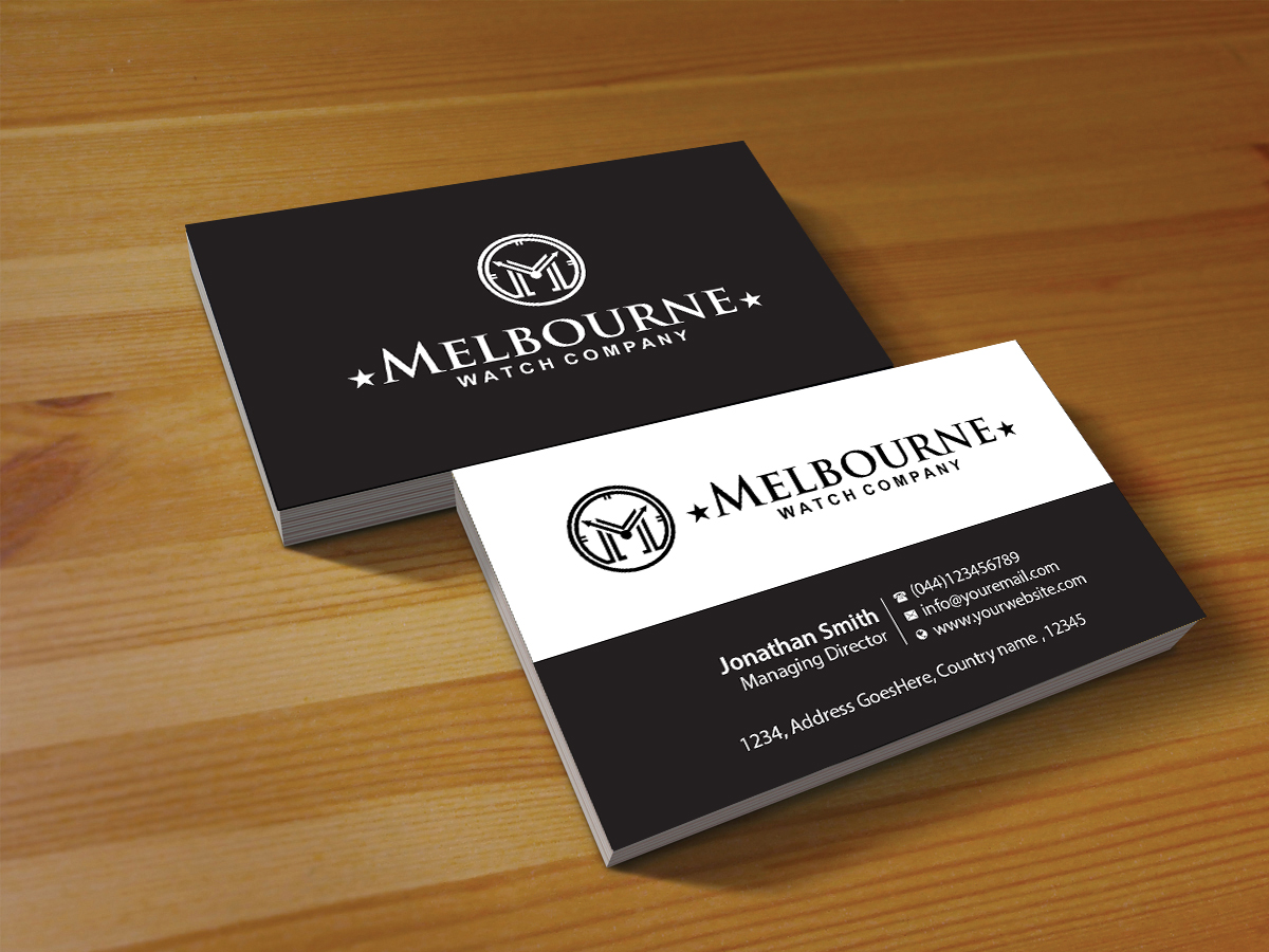 Business Business Card Design for Melbourne Watch Company Pty Ltd by ...