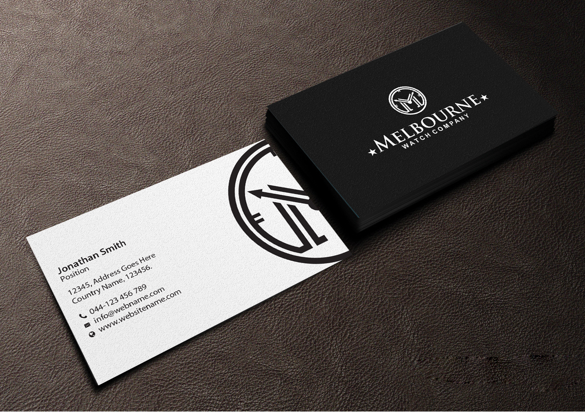 Business card design job business card brief for melbourne watch business card design job watch brand needs new business cards winning design by creations reheart Choice Image