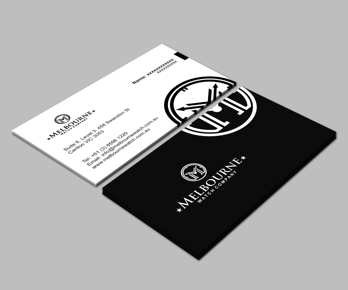 Business business card design for melbourne watch company pty ltd by business business card design for melbourne watch company pty ltd in australia design 13096631 reheart Image collections