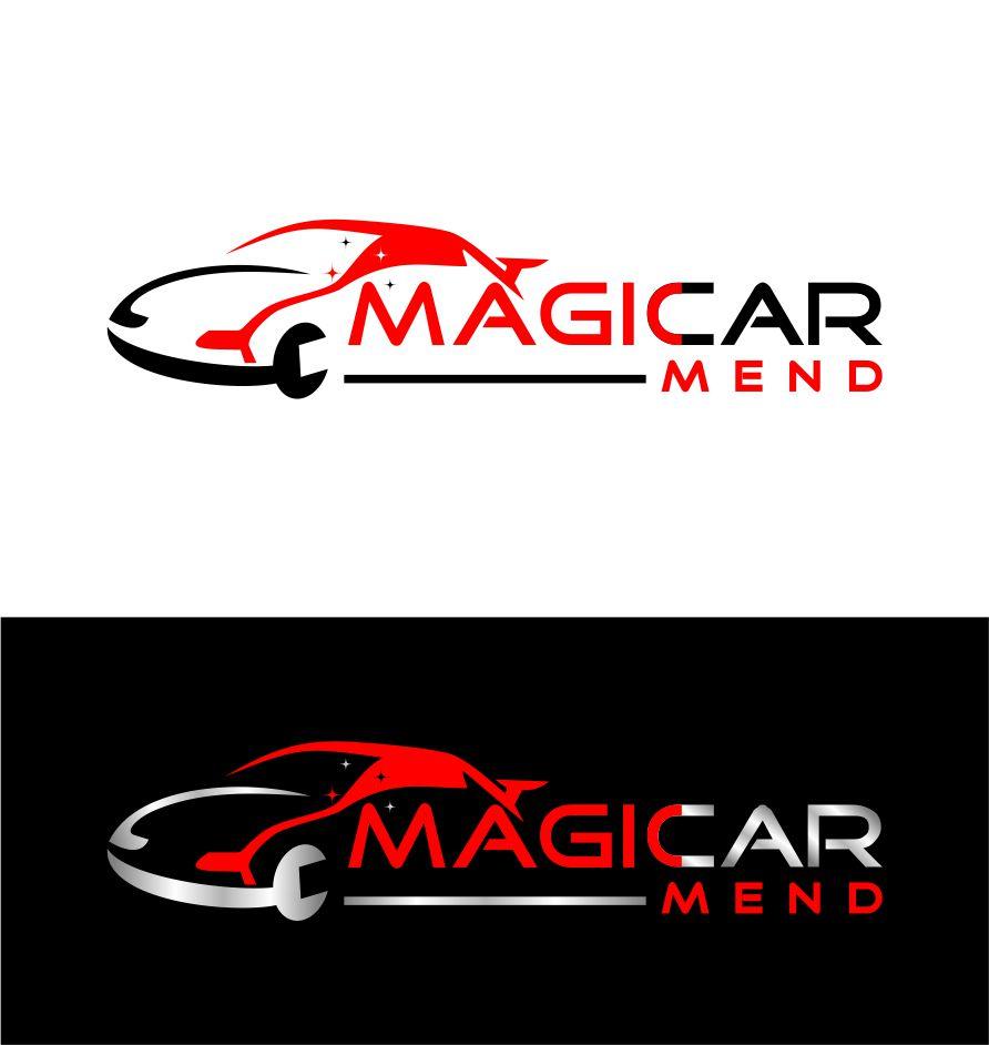 modern masculine car repair logo design for magicar mend or magic rh designcrowd com sg