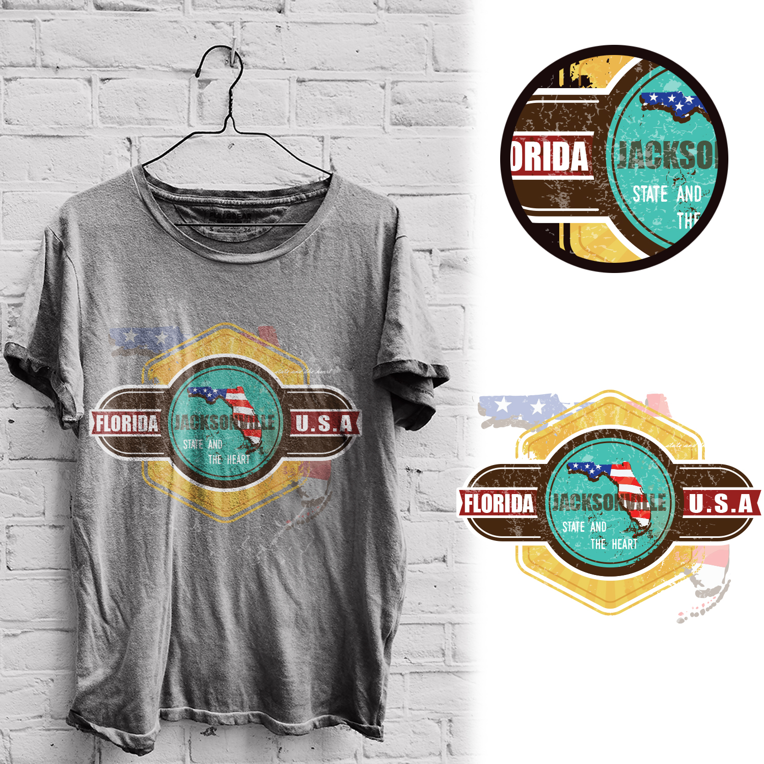 Bold Playful T Shirt Design For Jacksonville Clothing Company By