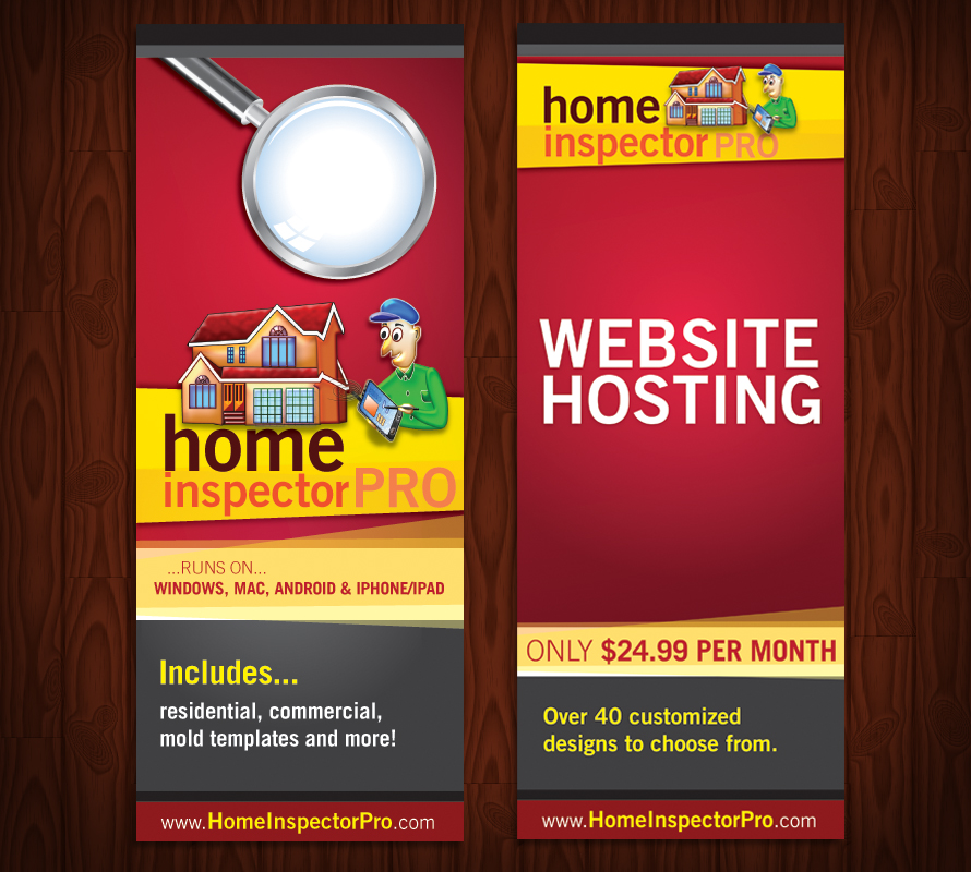 Colorful, Masculine Poster Design for Home Inspector Pro by Kynx ...