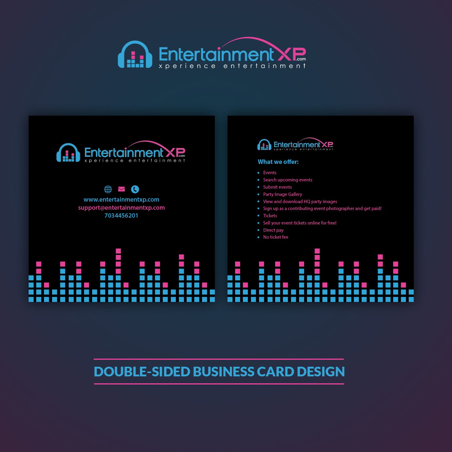 Masculine serious business business card design for business card design by clickdesign for entertainmentxp design 13166394 reheart Choice Image